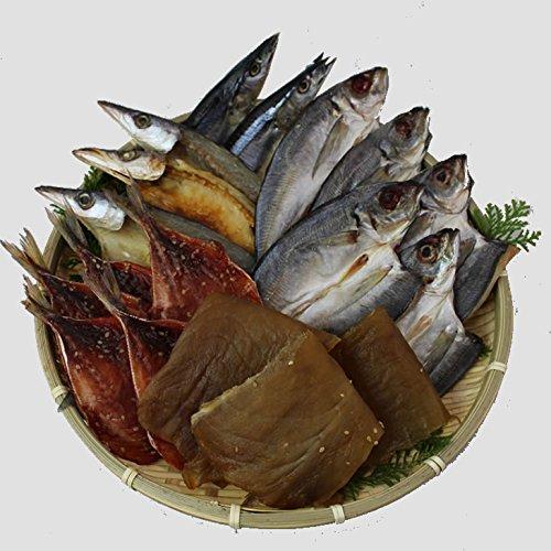 伊勢志摩名産「さめたれ」入り干物セット5種類[干物](アジ塩5アジみりん5カマス3秋刀魚2さめたれ200)