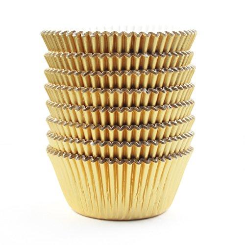 Gold Foil Metallic Cupcake Liners