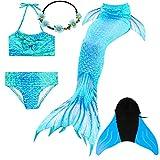 COZY HUT Meerjungfrau Schwanz mit Meerjungfrau Badeanzug Schwanzflosse Zum Schwimmen Kostüm Für...
