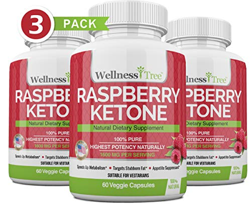 Raspberry Ketones Max Strength 1600mg - Natural Weight Management - Potent, Premium Ingredients...
