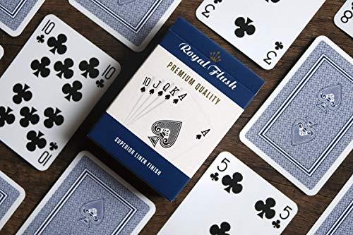 Cartamundi Royal Flush standardspelkort (3 stycken, röd/vit/blå)
