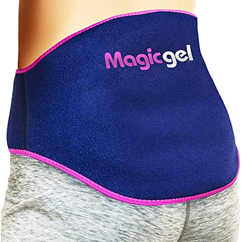 Back Pain Relief Gel Pack: Hot or Cold Ice Packs for Back Injuries - Reusable (Relief for Lower Lumbar, Sciatic Nerve, Degenerative Disc Disease, Coccyx, Tailbone Pain) by Magic Gel