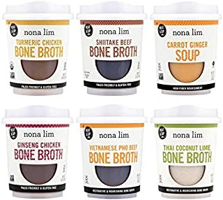 Nona Lim Heat & Sip Cups, Sampler Variety Pack - Gluten Free (10 oz, 6 Count)
