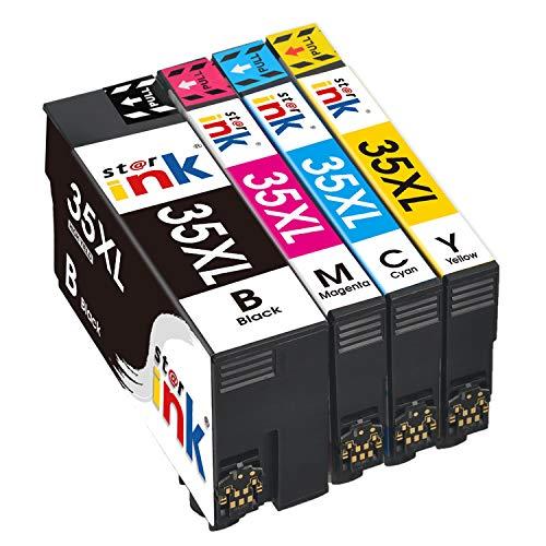 St@r ink - Cartucce d'inchiostro 35XL Sostituzione per Epson 35 35XL Compatibile con Stampante Epson Workforce Pro WF-4740DTWF WF-4730DTWF WF-4725DWF WF-4720DWF Nero Ciano Magenta Giallo 4 colori