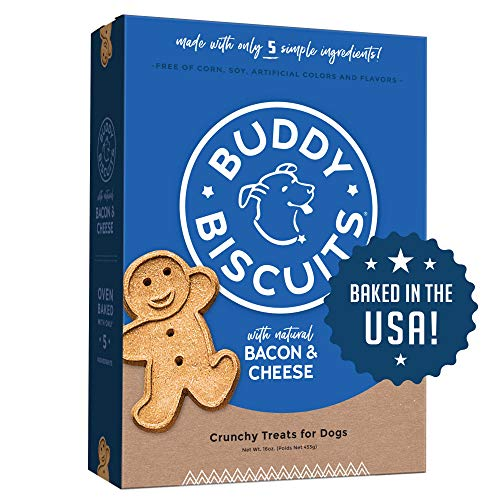 Buddy Biscuits Oven Baked Treats with Bacon & Cheese - 16 oz. (6 PACK), Model:12200_6PACK