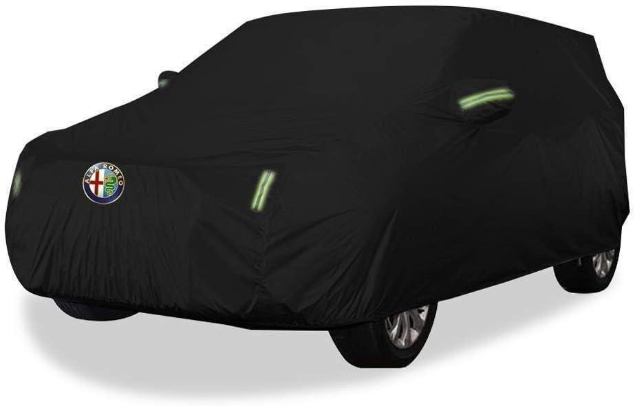 Farbe: Oxford-Tuch /– integrierte Fussel DNSJB Autoabdeckung f/ür Alfa Romeo Stelvio SUV Dickes Oxford-Tuch Sonnenschutz Regen Warm Abdeckung Autoabdeckung