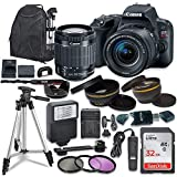 Canon EOS Rebel SL2 Digital SLR Camera with Canon EF-S 18-55mm is STM Lens + Sandisk 32GB SDHC Memory Card, Backpack and Accessory Bundle (Renewed)
