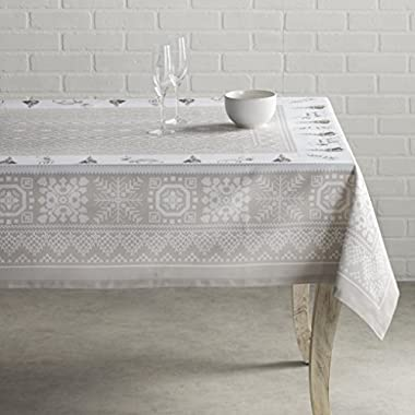 Maison d' Hermine CLEARANCE SALE Cozy Christmas 100% Cotton Tablecloth 60 Inch by 108 Inch
