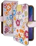 ZenFone3 ZE520KL ケース 手帳型 携帯ケース 水彩 パステル ピンク 花 花模様 おしゃれ ゼンフォン ゼンフォーン ゼンホン スマホケース 携帯カバー ze-520kl 花柄 カメラレンズ全面保護 カード収納付き 全機種対応 t0537-02101