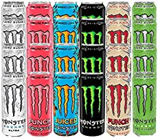 Monster Energy Mega Mixed Variety Pack x24 with Free Sticker Pack, Original, Ultra, Ultra Paradise, Pipeline Punch,...