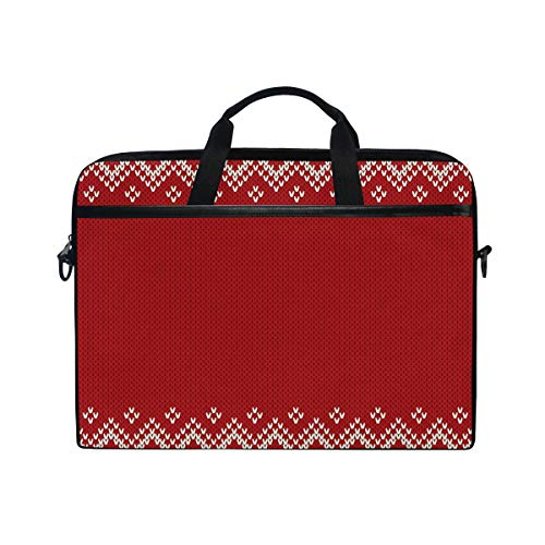 Montoj - Bolsa para portátil de 15 pulgadas, diseño clásico, color rojo