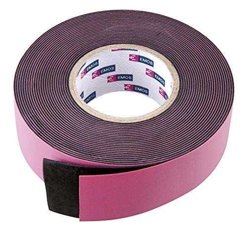 EMOS 1x universales selbstverschweißendes Band, LxBxH 5 m x 25 mm x 0,76 mm, für Außenbereich als Isolierband, Dichtungsband, Reparaturband geeignet, schwarz