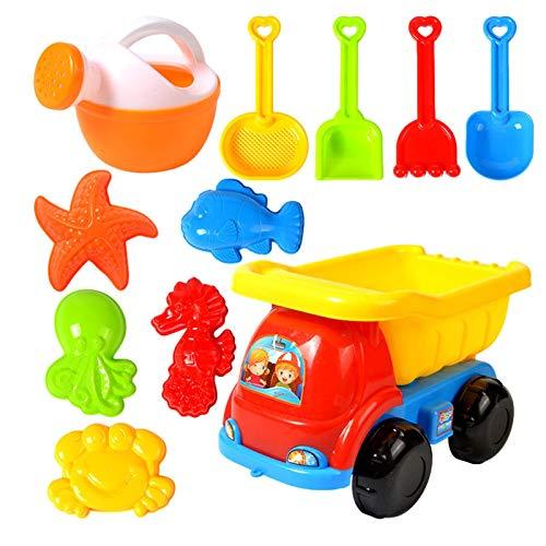 daiyanjing Juego de juguetes de arena para la playa para niños con formas de animales marinos, material suave, para jugar al aire libre y para niños pequeños.