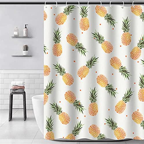 Cortina de ducha Piñas de 180 cm x 180 cm, impermeable, lavable, antimoho, antibacteriana, para cuarto de baño y bañera, varios tipos