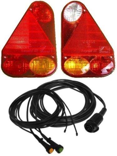 FKAnhängerteile Aspöck Earpoint 3-13 pol komplett Set Leuchten und Kabel 6,1 Meter mit Abgang