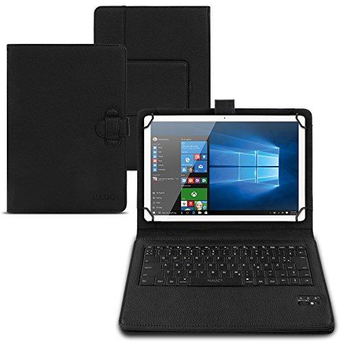 NAUC Tastatur Hülle QWERTZ Bluetooth Schutzhülle Cover Tablet Case Keyboard kabellos Ultra dünn ergonomisches Design deutsche QWERTZ Layout, Tablet Modell für:Sony Xperia Z4 Tablet 10.1