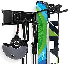 Odoland Ski Rack, 3 Pairs of Ski Snowboard Rack Wall Mount, Home and Garage Ski Storage Rack Wall Mount, Hold up to 300lbs
