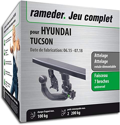 Rameder Pack, attelage rotule démontable + Faisceau 7 Broches Compatible avec Hyundai Tucson (143651-14316-1-FR)