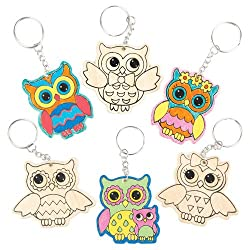 Decorate Your Own Owl Keychains