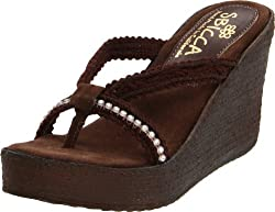 Jewel Wedge Brown Sandal
