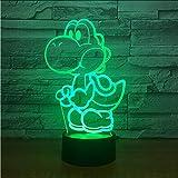 Mmzki Yoshi Mario 3D Led Usb Lampe Cartoon Spiel Figur Super Acryl Neuheit Weihnachten Beleuchtung Geschenk Rgb Touch Fernbedienung Spielzeug