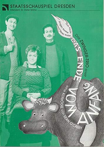 Programmheft Das Zwinger-Trio spielt Sean O' Casey DAS ENDE VOM ANFANG Spielzeit 1995 / 96 / 97 3-fach signiert