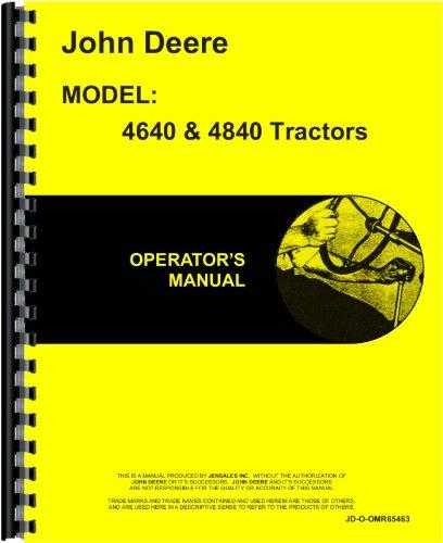 John Deere 4640 Tractor Operators Manual