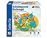 Selecta 62062 Schiebepuzzle Dschungel, Motorikspielzeug aus Holz, 24 cm -