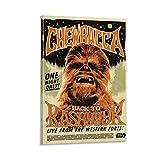 XIXILI Chewbacca Retro-Poster, kreative Filmposten, Druck,