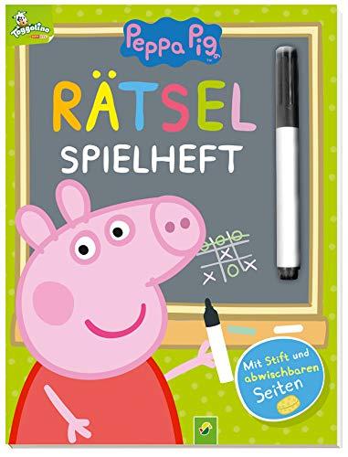 Peppa Pig Rätsel-Spielheft: Mit Stift und abwischbaren Seiten