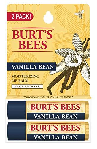 Burt's Bees Bálsamo labial hidratante 100% natural, favo de baunilha, 2 unidades