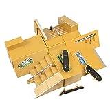 Wayin 8pcs Skate Park Kit Piezas de rampa para Tecnología de Cubierta diapasón Mini patín del Dedo Fingerboards Parques Ultimate (B Monopatines)