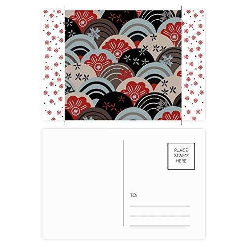 Tarjeta postal tradicional japonesa tradicional de Navidad con flores culturales de Navidad, 20 unidades
