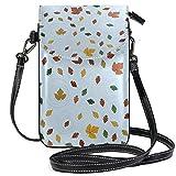 Schwimmende Blätter Handy Geldbörse für Frauen Mädchen kleine Crossbody Geldbörse Taschen