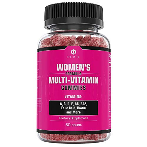 Womens Multivitamin Gummies, Gluten Free, Easily Chewable and Tasty Gummy Vitamins Specifically for Female Adults, Made in USA by Noble Labs- 60 Count