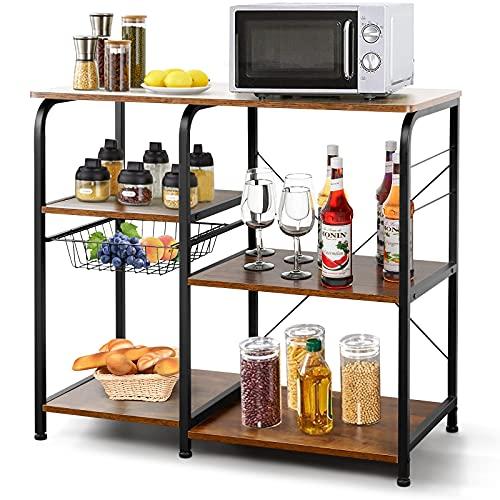 Estante de cocina de metal y madera estante