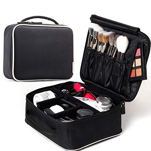ROWNYEON Makeup Train Case Makeup Travel Bag Mini Cosmetic Bag Organizer Professional Portable Cosmetic