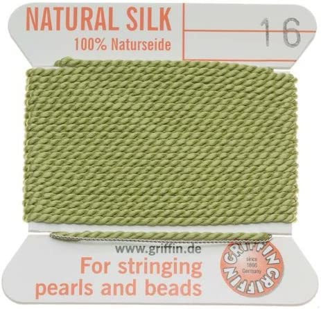 Griffin 1mm Gorgeous Thick Silk Max 87% OFF Beading Cord 16 - Lt Size Jade Green