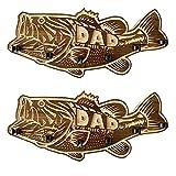 Support de canne à pêche en bois à grande bouche, support de rangement mural pour canne à pêche, support de canne à pêche avec 4 porte-cannes (2 Sets)