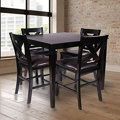 Pearington PEAR-8684 Dining Set, Expresso/Brown