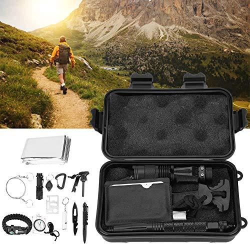Wakects Kit di Sopravvivenza Multiuso,13 in 1 Survival Kit,Usato per Esterna First Aid Kit per Gli Sport all\'Aria Aperta, Campeggio, Alpinismo, ECC