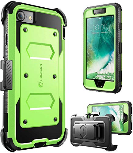 i-Blason Armorbox Case Designed for iPhone SE2 2020 /iPhone 7/iPhone 8, Full-Body Rugged Holster Protective Case with Built-in Screen Protector, Green