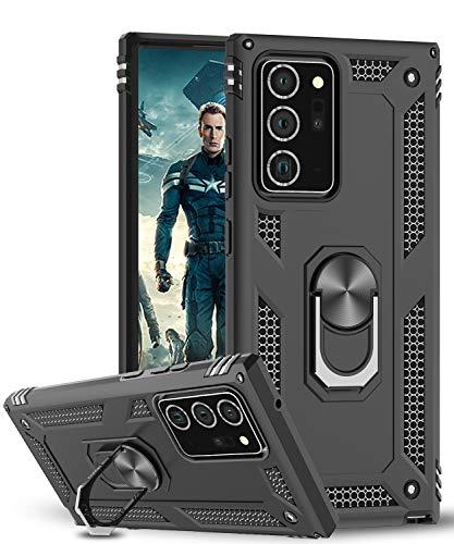 LeYi für Samsung Galaxy Note 20 Ultra Hülle,360 Grad Ring Halter Handy Hüllen Cover Magnetische Bumper Schutzhülle für Hülle Samsung Galaxy Note 20 Ultra/Note 20 Ultra 5G Handyhülle Schwarz