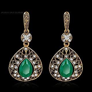 Rhinestone Crystal Vintage Drop Dangle Ear Stud Earrings Jeweler
