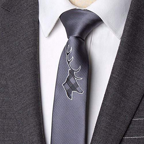 ZHAOSHUNAN Krawatten Herren Krawatte Bestickte Blumen Krawatte Schmale Krawatte Hochzeit Fliege Herren Kleid Geschenk Krawatte @ C