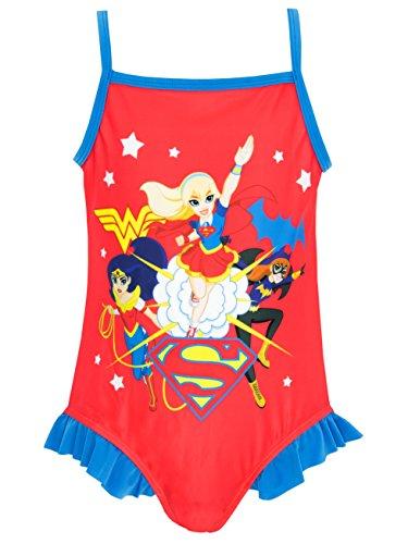 DC Superhero - Bañador para niña - DC Superhero - 9-10 Años