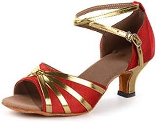 Fulision Women's Performance Dancing Shoes Low Heel Latin Salsa Tango Dance