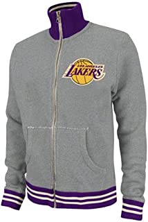 Mitchell & Ness Los Angeles Lakers Grey French Terry Vintage Garment Washed Track Jacket