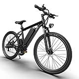 Bicicleta eléctrica A26 para hombre y mujer, 26 x 4,0 pulgadas, 250 W, con batería extraíble de 36 V y 12,4 Ah, 45-4 = 90 km/h