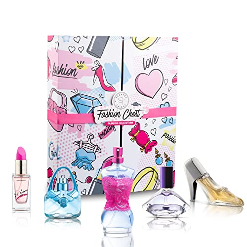 Body Spray Mist Perfume Fragrance for Girls, 5 Piece Eau De Parfum Gift Set for Girls (Ages 6-16), Little Girls, Young Girls, Tween Girls, Pre-Teen & Teenage Girls | FASHION CHEST- Fashion Collection